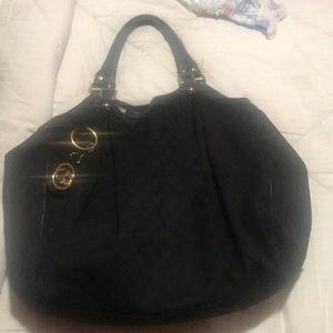 Authentic black gucci bag